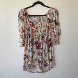 American Rag floral blouse 3/4 sleeves sz 2x